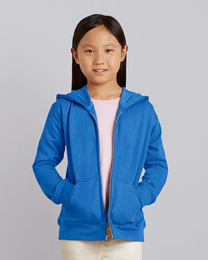 88600B Gildan® Heavy Blend™  Youth Full Zip Hooded Sweatshirt