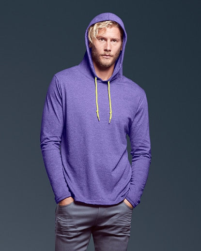 987 Adult Lightweight Long Sleeve Hooded Tee