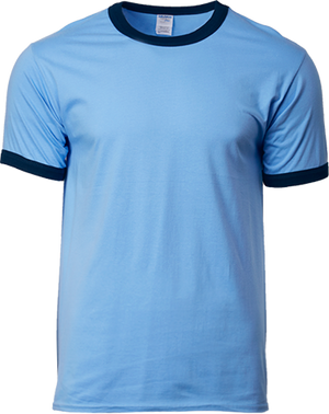 76600 Gildan® Premium Cotton™  Adult Ringer T-Shirt