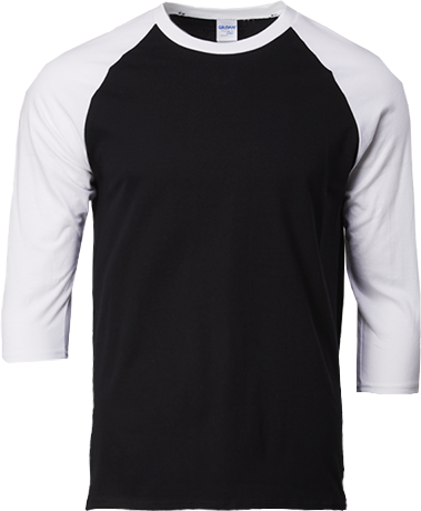 76700 Gildan® Premium Cotton™  Adult 3/4 Sleeve Raglan T-Shirt