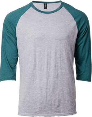 ANVIL 6755 Adult Tri-Blend ¾ Sleeve Raglan Tee