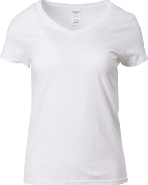 63V00L Gildan® Softstyle™  Ladies V-Neck T-Shirt - WishTee T Shirt Printing Malaysia