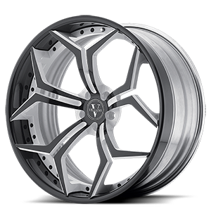 VCX Standard  / Gloss Black with White Accents   6 Lug