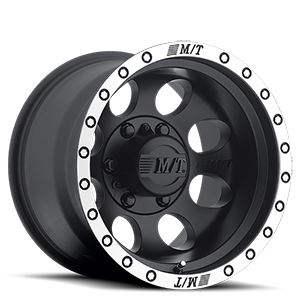 Classic Baja Lock™ - 15x10  / Matte Black with Machined Simulated Bead Lock   6 Lug