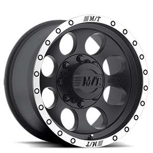 Classic Baja Lock™ - 17x9  / Matte Black with Machined Simulated Bead Lock   5 Lug