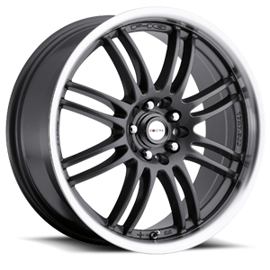 163 F-16  / Anthracite with Machined   5 Lug