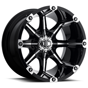 NX-3  / Black Machined   8 Lug