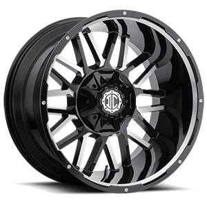 NX-12  / Gloss Black Machined   8 Lug