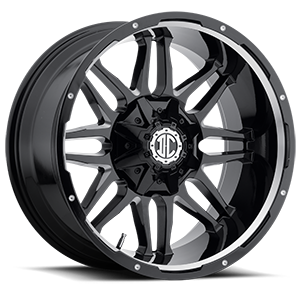 NX-9  / Gloss Black Milled   8 Lug