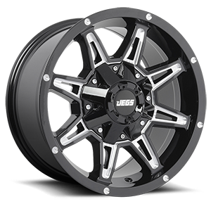 Rampage  / Black with Milled Spokes   8 Lug