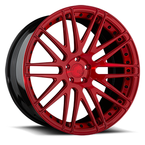 AGL10 Monoblock  / Brushed Candy Red Gloss   5 Lug