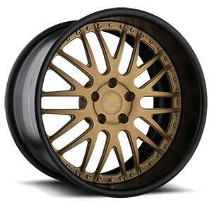 AGL10  / Matte Gold with Matte Black Lip   5 Lug