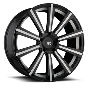 AGL11 Monoblock  / Gloss Black with White Accents   5 Lug