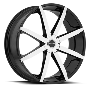 843 Zenith  / Gloss Black Machined   4 Lug