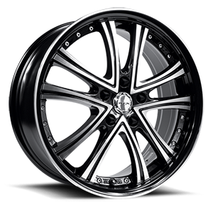 Allure  / Black Machined   5 Lug