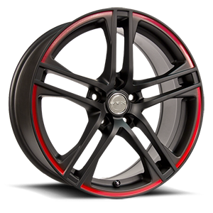 Apex  / Black w/Red Stripe   5 Lug