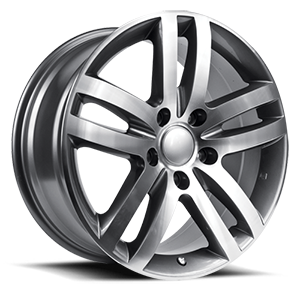 Augsburg  / Gunmetal Machined   5 Lug