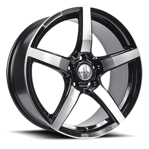Baden  / Black Machined   5 Lug
