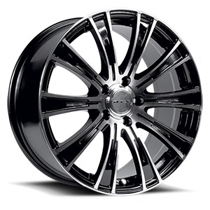 Baron  / Black Machined   5 Lug