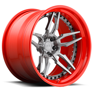 Attack 5 - XA40  / Brushed, DDT | Red Hoop   5 Lug