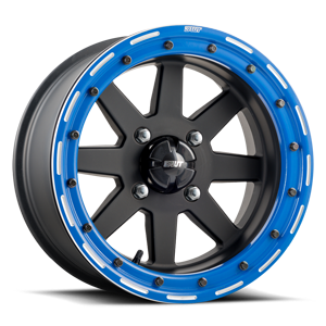 Star Fighter  / Matte Black with Blue   4 Lug