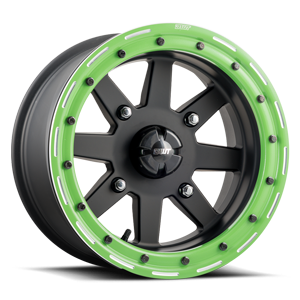 Star Fighter  / Matte Black with Green   4 Lug