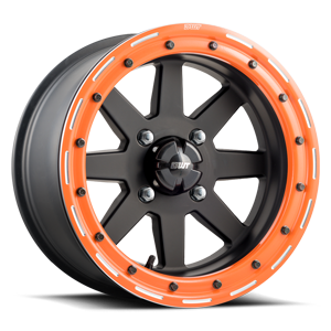 Star Fighter  / Matte Black with Orange   4 Lug