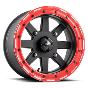Star Fighter  / Matte Black with Red   4 Lug