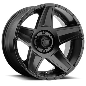 DS648  / Satin Black   6 Lug