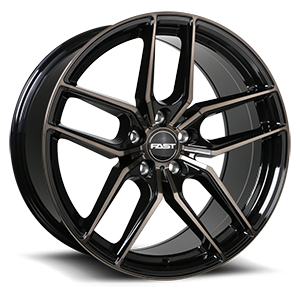 Aristo  / Gloss Black with Machined Face and Smoked Clear 19x9.5   5 Lug