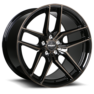 Aristo  / Gloss Black with Machined Face and Smoked Clear 19x11   5 Lug