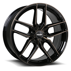 Aristo  / Gloss Black with Machined Face and Smoked Clear 19x8.5   5 Lug