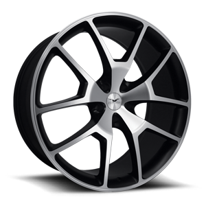FDRA  / Satin Black Machined Face   5 Lug
