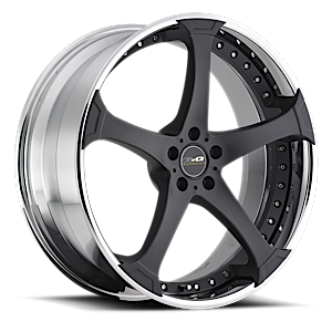 D-2  / Black with a Chrome Barrel   5 Lug