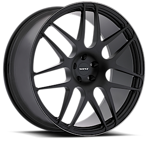 M100  / Gloss Black with White Stripe   5 Lug