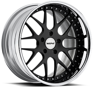 MINT IV  / Gloss Black with Chrome Lip   5 Lug