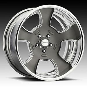NEW! Magnitude - deep concave  / Polish and Matte Gray Ceramic Paint   5 Lug