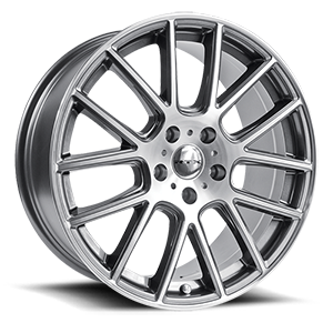 Milan  / Gunmetal Machined   5 Lug