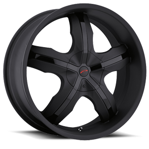 212 Widow  / Matte Black with Gloss Black Inserts   5 Lug