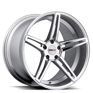 Brickyard  / Silver w/Mirror Cut Face   5 Lug
