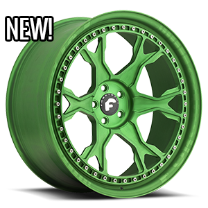 F-Braccio  / Green Center, Custom Lip   5 Lug