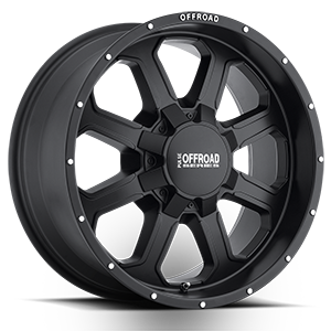P40  / Matte Black Machined Flange   8 Lug