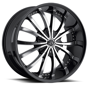 Mancini  / Black & Machined   6 Lug