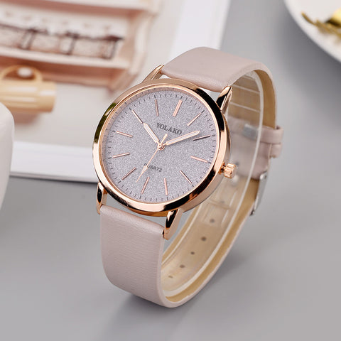 Luxury Brand Leather Quartz Women's Watch