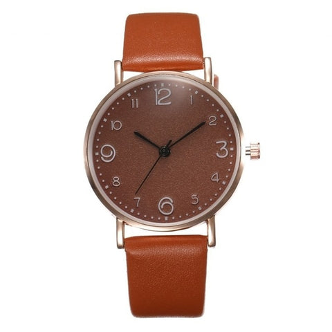 Top Style Fashion Women's Luxury Leather Watch Women