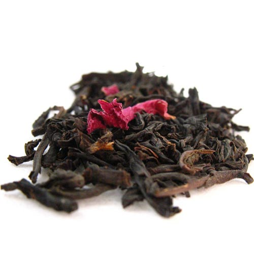Black tea scented with rose