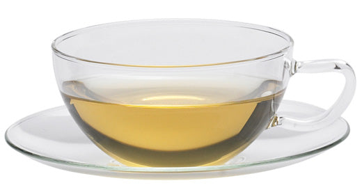 Opus 150ml glass cup and saucer