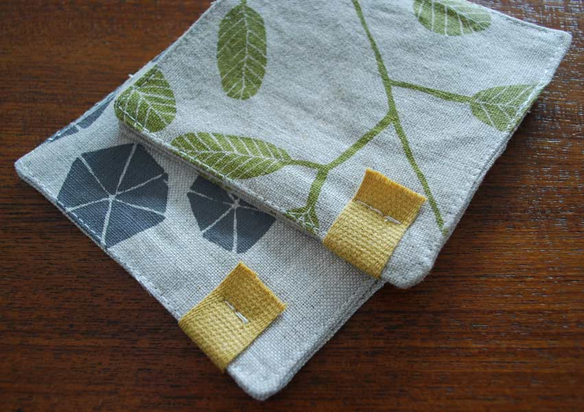 Pair of linen coasters