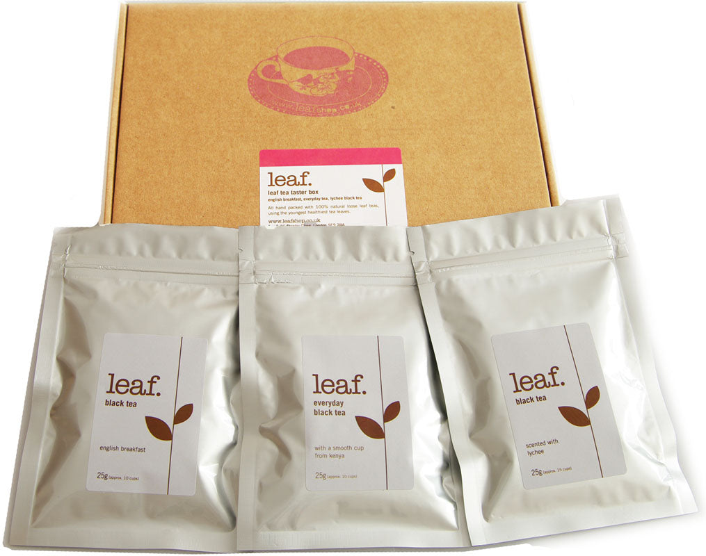 Leaf tea taster box: