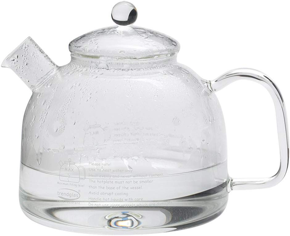Water Glass kettle for the hob